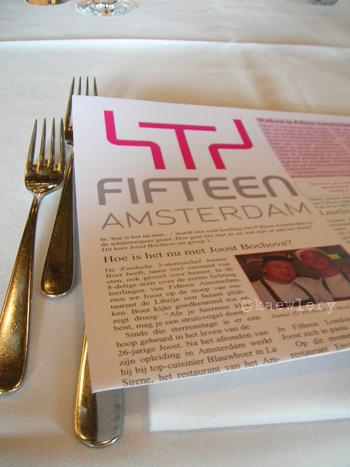 restaurant fifteen amsterdam