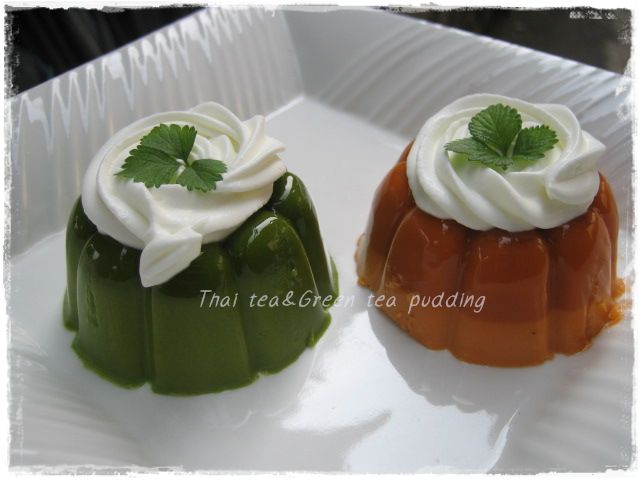 Thai Tea Pudding กับ Thai Tea Green Tea