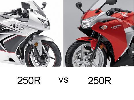เฉพาะหน้าตา CBR 250 กับ Ninja 250