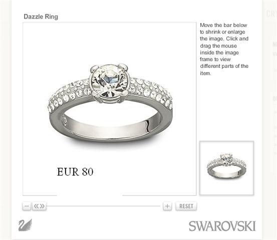 สาวๆัคับ swarovski กับ แหวนทอง
